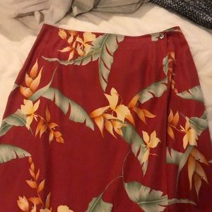 Tommy Bahama size 14 long floral skirt (like new)
